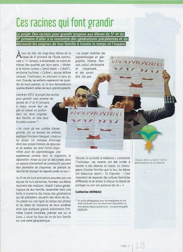 """Parution dans la revue """"Prof"""""""